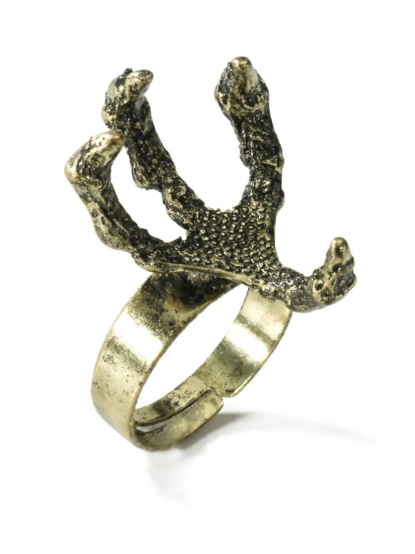 MEDIEVAL & GOTHIC FANTASY DRAGON CLAW RING FANCY DRESS ACCESSORY