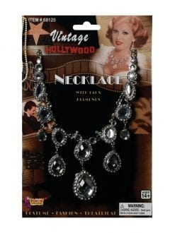 1920s RHINESTONE VINTAGE HOLLYWOOD NECKLACE LADIES FANCY DRESS ACCESSORY
