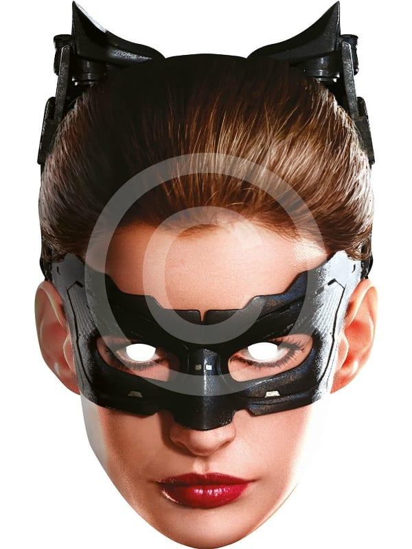 SUPERHERO CATWOMAN CARD FACE MASK BOOK WEEK FANCY DRESS COSTUME ACCESSORY