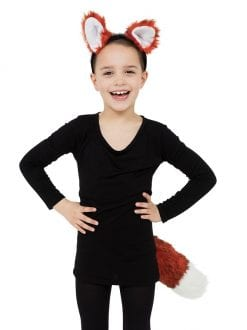 CHILD ANIMALS & NATURE FOX SET EARS & TAIL FANCY DRESS ACCESSORY