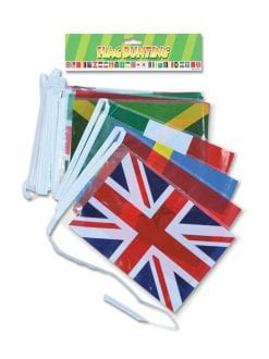 BUNTING MULTI NATIONS 7M 25 FLAGS WORLD COUNTRIES PARTY ACCESSORY