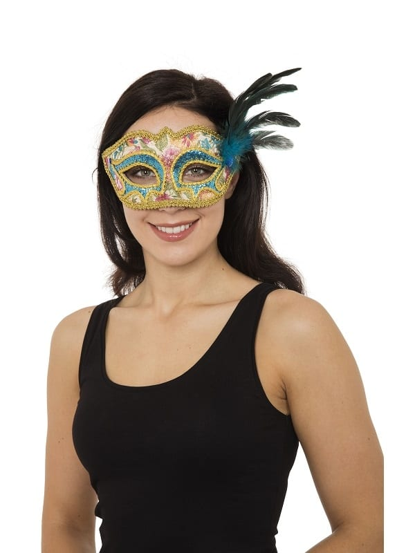 ADULT LADIES ANTOINETTE GLASSES STYLE EYE MASK FANCY DRESS CARNIVAL