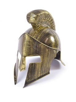 ANCIENT SPARTAN WARRIOR FULL HELMET FANCY DRESS ACCESSORY