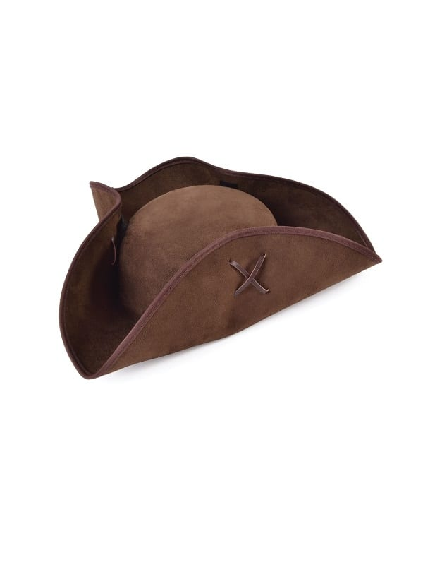 Brown Pirate Tricorn Hat