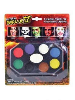 FACE PAINTING MAKE UP KIT HALLOWEEN ZOMBIE CLOWN DEVIL ANIMALS