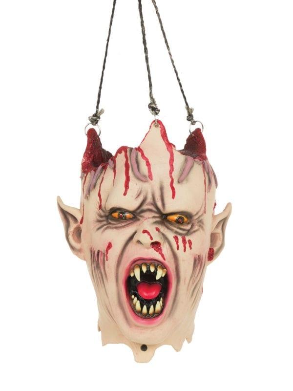 VAMPIRE HANGING HEAD SOUND + LIGHT HALLOWEEN DECORATION ACCESSORY PROP