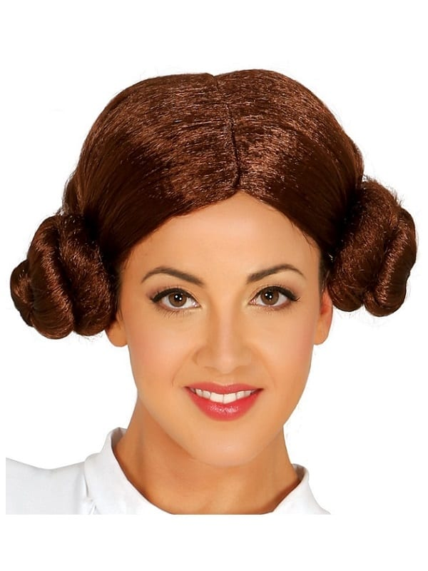 STAR WARS SPACE PRINCESS LEIA WIG FANCY DRESS ADULT ACCESSORY