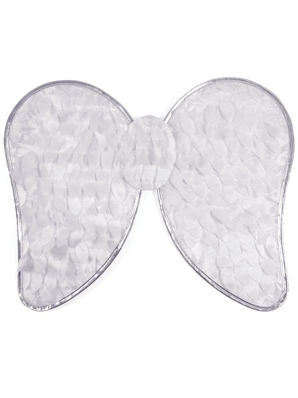 CHILD WHITE ANGEL WINGS FANCY DRESS CHRISTMAS ACCESSORY