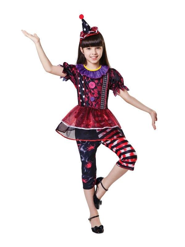 HALLOWEEN CLOWN GIRL CHILD PARTY FANCY DRESS COSTUMES