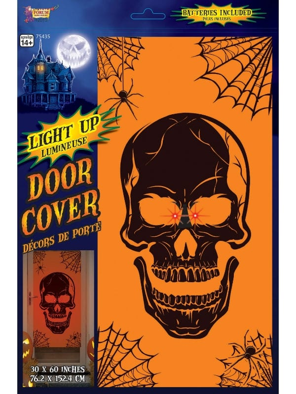SKULL LIGHT UP DOOR COVER HALLOWEEN PARTY ROOM DECORATION