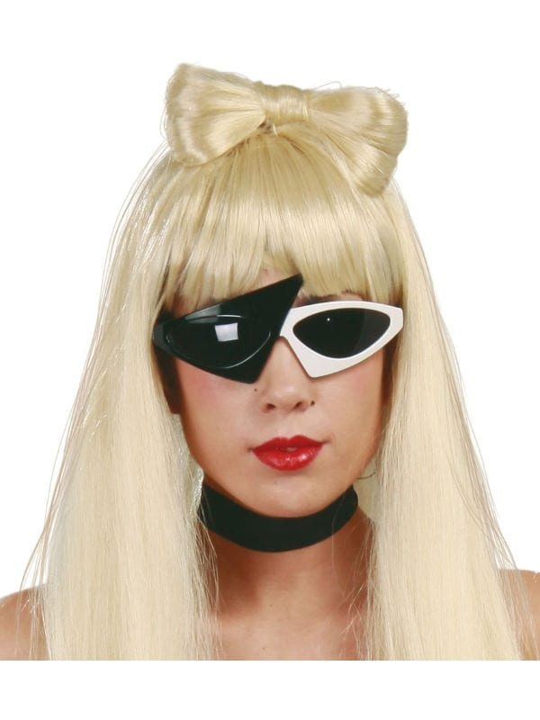 POP STAR GLASSES LADYGAGA STYLE FANCY DRESS ACCESSORY ADULT ONE SIZE