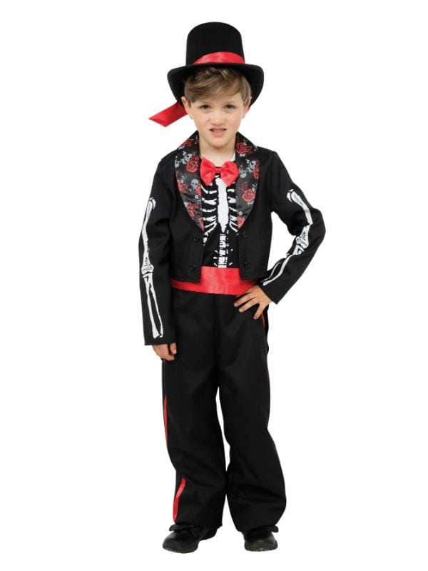 DAY OF THE DEAD BOY CHILD MEXICAN HALLOWEEN FANCY DRESS COSTUME 2 SIZES