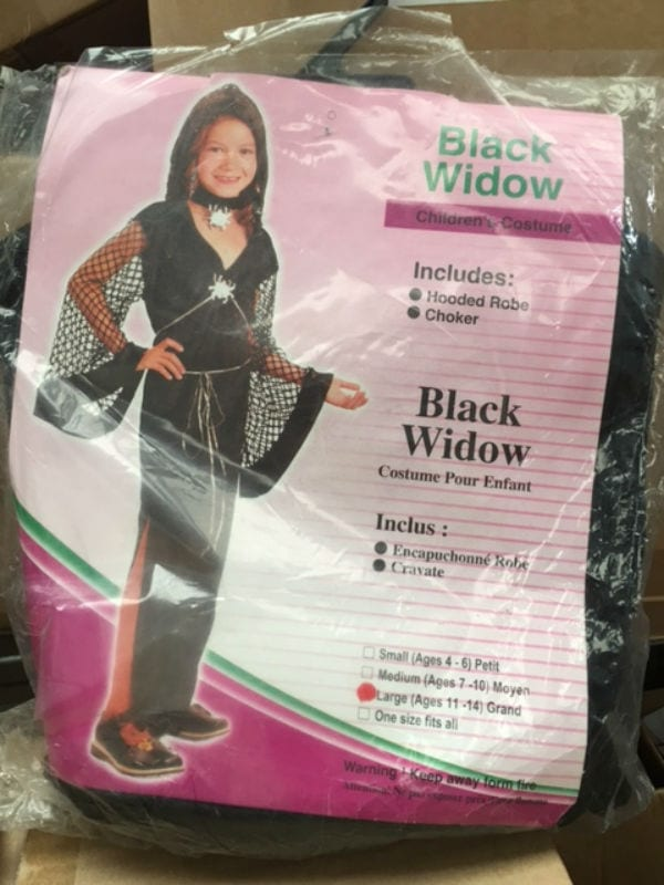 BLACK WIDOW CHILD FANCY DRESS COSTUME LARGE