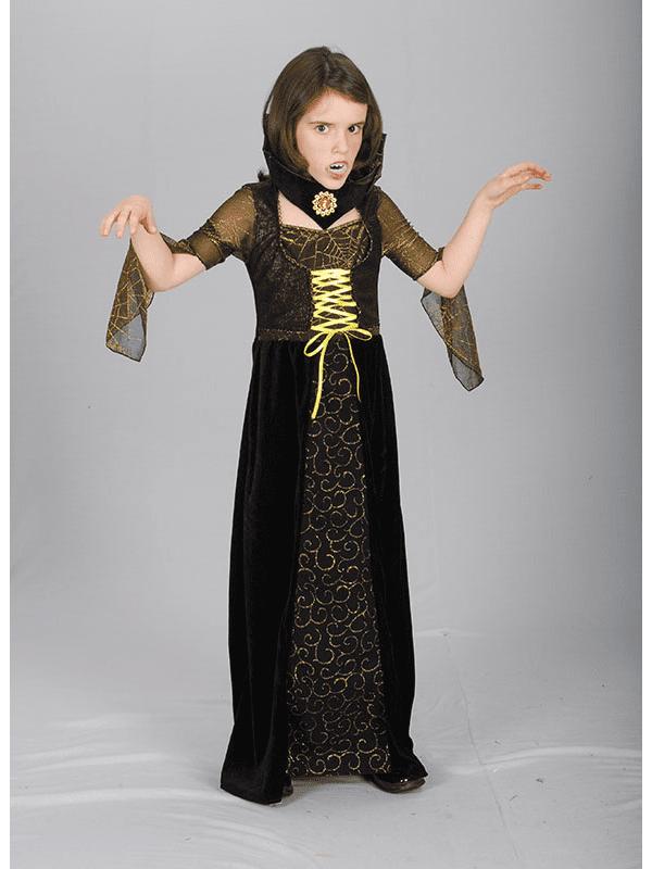 COUNTESS BLOOD THIRST VAMPIRESS CHILD HALLOWEEN FANCY DRESS COSTUME