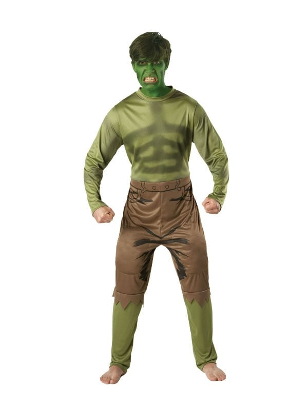 MARVEL LICENSED ADULT DELUXE HULK OUTFIT FANCY DRESS SUPERHERO