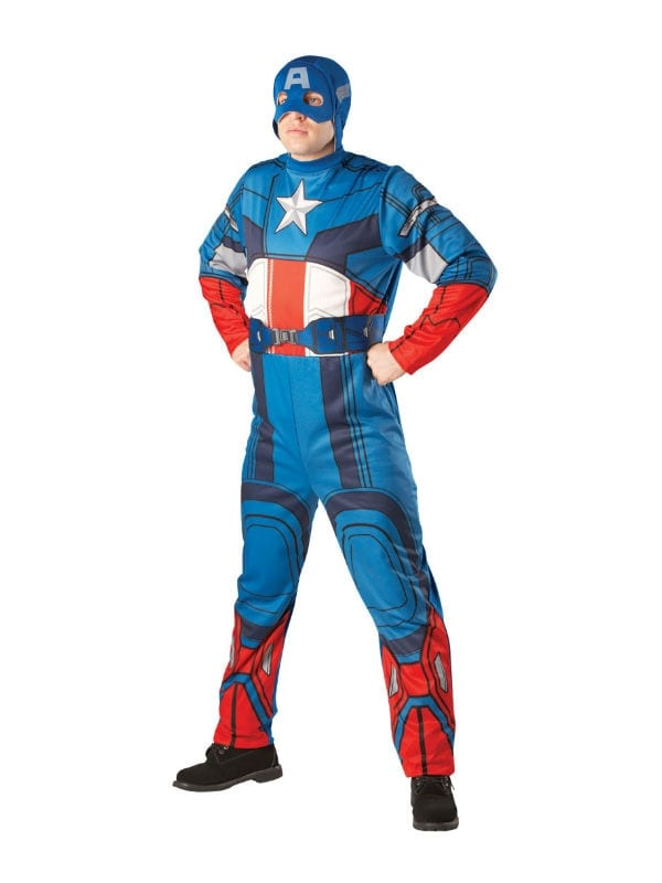 CAPTAIN AMERICA ADULT FANCY DRESS COSTUME MARVEL SUPERHERO LICENSED