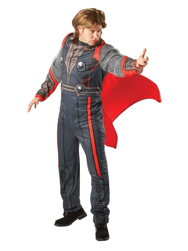 THOR COSTUME ADULT MARVEL FANCY DRESS SUPERHERO LICENSED