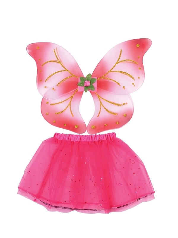 Pink Fairy Wings & Tutu Set