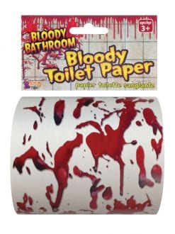BLOODY TOILET PAPER HALLOWEEN PARTY DECORATION